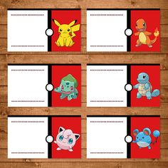 Pokemon Food Tent Labels Red & White by NineLivesNotEnough