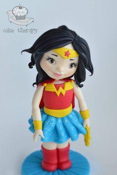 Wonder woman inspired cake topper