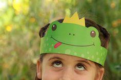 free printable | paper prince frog crown יצירה לילדים לפסח | כתר צפרדע | פרינטבל חינם  להדפסה |  NaamaSimanim.co.il