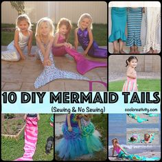 10 DIY Mermaid Tails (Sewing & No Sewing). Check out--> http://coolcreativity.com/handcraft/diy-mermaid-tails/