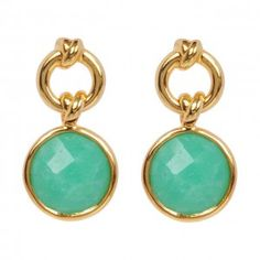 Knot Drop Earrings with Chrysoprase