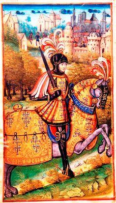 """René II, Duke of Lorraine (1451-1473-1508), part of the frontispiece of the revue Lotharingia """"Le duc de Lorraine René II et la construction d'un état princier"""", 2008."""