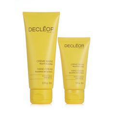 218594 Decleor Hand Cream Home & Away Duo QVC Price:£16.00 + P&P: £2.95   Aroma Confort Hand Cream is a light cream with delicate floral notes, ideal for use throughout the day to leave skin beautifully scented and provide essential care for hands and nails. This duo comes in two sizes, one ideal for leaving at home the other, a smaller size is idea for popping in your handbag.