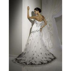 black red and white wedding dress | Wedding Dress: Sleek White Wedding Dress With Corset Back Behind