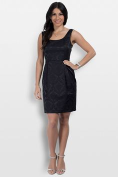 """Tiah in Night Sky. Our petite LBD for women 5'4"""" and under."""