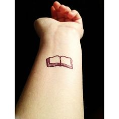 Small book tattoo ❤ liked on Polyvore featuring accessories and body art