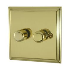 Deco Polished Brass Sockets and Switches British Standards, Led Dimmer, Polished Brass, Door Handles, Deco, Stuff To Buy, Door Knobs, Decoration, Deko