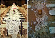 DIY elegante Hochzeitsdekoration Tischdeko mit weiß Retro Spitze