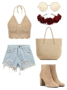 Coachella boho look by nikkita-caldwell on Polyvore featuring polyvore, fashion, style, Chicnova Fashion, Yves Saint Laurent, Target, Victoria Beckham and clothing