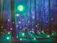 The Energy Art Store By Julia Watkins — Fairy Forest Magical Energy Painting - Gicleee Print