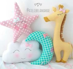 Ideas Sewing Baby Diy Fabrics For 2019 Baby Pillows, Kids Pillows, Sewing Toys, Baby Sewing, Baby Girl Bedding, Pillow Fabric, Baby Girl Gifts, Diy For Girls, Baby Decor