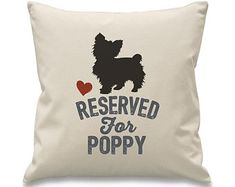 Reserved for Yorkie cushion Yorkshire Terrier, Yorkie, Dog Breeds, Reusable Tote Bags, Cushions, Unique Jewelry, Gift, Etsy, Design