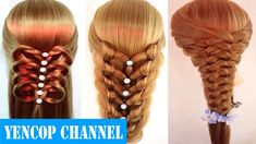 7 Peinados Faciles Y Rapidos Para Cabello Corto o Largo Trenzas (P2)   P...