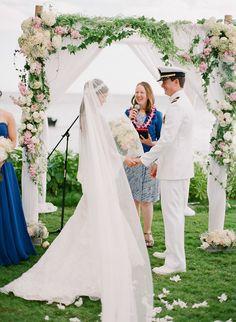 Destination Hawaii! See this beautiful wedding on SMP -- http://www.StyleMePretty.com/2014/01/23/maui-destination-wedding-at-the-sugarman-estate/ Jana Morgan Photography