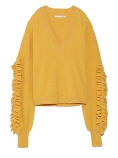 SleeveRuffleKnit(ニット)|styling/(スタイリング)|ファッション通販|ウサギオンライン公式通販サイト