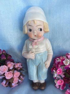 Rare Antique Grace Drayton Dolly Dingle All Bisque Nodder Knotter Dutch Doll