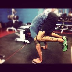 Crossfit + yoga. I can so do this..Its like my new party trick!! lol