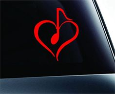 Heart with Musical Note Symbol Decal Funny Car Truck Sticker Window (Red) ExpressDecor http://www.amazon.com/dp/B00TEFRZJG/ref=cm_sw_r_pi_dp_n072ub0XRF9WM