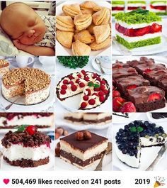 Rolada biszkoptowa Raffaello - I Love Bake Food Cakes, Kiwi, Tiramisu, Cake Recipes, Cheesecake, Baking, Ethnic Recipes, Tarts, Mascarpone