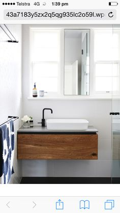 Master Bathroom With Ikea Godmorgon Mirrored Medicine