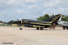 French Marine Nationale Super-Etendard strike aircraft at base aéronavale de Landivisiau for celebrations of 40 years in service, 27 June 2014. Organised by Flottille 17F.