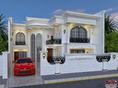 Top Modern Houses Forever - Engineering Discoveries House Outside Design, House Gate Design, Village House Design, Bungalow House Design, House Front Design, Two Story House Design, Classic House Design, Unique House Design, Design Your Dream House