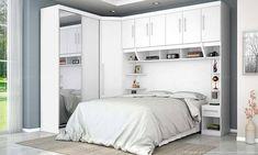 Compre Quarto Modulado de Casal com 5 Módulos Branco/Branco Ártico - Urbe Móveis em Promoção com ✓ Até 12x ✓ Fretinho