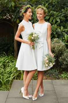 MAID FOR EACHOTHER: Mix and match ivory bridesmaid styles