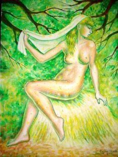 Dorinta, pictura inspirata din poezia lui Mihai Eminescu