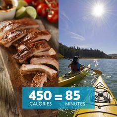 You'd have to kayak 85 minutes to burn off the calories in half a rack of BBQ ribs! Are they worth the indulgence?