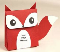 How-to: foxy valentine favors Free printable fox Valentine favor box. So fun and different. Easy Valentine Crafts, Valentine Day Boxes, Valentine Cards, Valentine Ideas, Homemade Valentines, Kids Valentines, Funny Valentine, 3d Templates, Art Template
