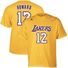 adidas Dwight Howard Los Angeles Lakers Player T-Shirt - Gold