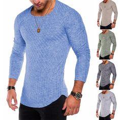 e943a7b48927 2018 NEW Trendy Summer Men T Shirt Casual Long Sleeve Slim Men s ...