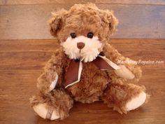 Peluche osito HEKTOR. Mi nombre es Hektor y soy un suave osito de peluche de color marrón de 35 cm. Quieres que seamos amigos ?