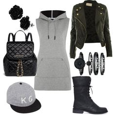 A fashion look from March 2015 featuring T By Alexander Wang hoodies, MICHAEL Michael Kors backpacks and Anne Klein watches. Browse and shop related looks.