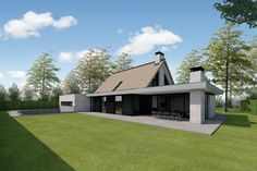 Wooden Ceilings, Modern Farmhouse Exterior, Bungalow, Building A House, House Plans, House Design, Mansions, Villa, House Styles