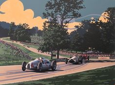 Silver Arrows at Donnington — amazing new work from Tim Layzell.