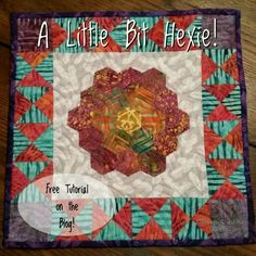 The little project I am doing for my Tuscany hand sewing workshop ((can't you just see all 40 of us English paper piecing away?)) Is available for you too, today on the blog!  You can stitch along with us and try your hand  with hexies! http://quiltville.blogspot.com #quilt #quilting #patchwork #quiltville #bonniekhunter #hexies #englishpaperpiecing #paperpiecingeverywhere #freepattern