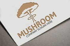 Mushroom Logo Template by josuf on Creative Market Typography Design, Logo Design, Graphic Design, Hipster Design, Eco Green, Secret Rooms, Company Slogans, Logo Food, Logo Templates