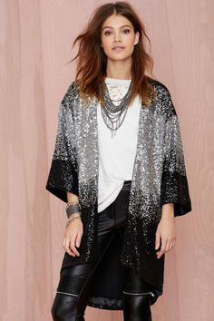 Nasty Gal Cold Hard Flash Kimono - Kimono | Jackets + Coats | Shine On | All | Cyber Monday Jackets | Clothes |  | Jackets + Coats