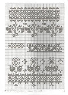 Cross Stitch Borders, Cross Stitch Designs, Cross Stitching, Cross Stitch Embroidery, Cross Stitch Patterns, Knitting Charts, Knitting Patterns, Motifs Blackwork, Palestinian Embroidery