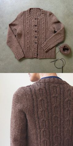 beautiful cardigan knitted by @Karen Jacot Templer of fringe association.com | Acer cardigan pattern on ravelry