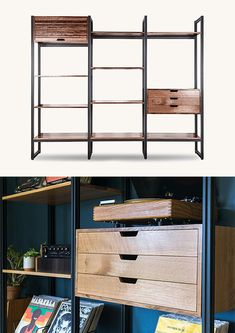The Tekio Modular Shelving System From Tanner Goods Is Elegant, Adaptable, & American-Made Modular Shelving, Modern Shelving, Storage Rack, Storage Shelves, Building Companies, Gadget, Don't Forget, Mid-century Modern, Hardwood