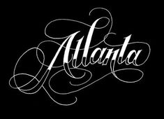 ATLANTA VIA JON CONTINO HAND LETTERER