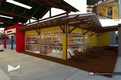 2|2 AUTO POSTO NOVA ITÁLIA - Estudo preliminar de Projeto Arquitetônico de reforma para loja de conveniência em Nova Itália, Urussanga - SC  #reforma #autoposto #conveniencia
