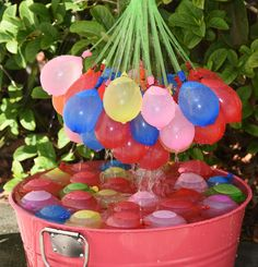 Amazon.com: Crazy Balloons - Fills and Ties 148 Water Balloons in a Minute - Hose Attachment Filler - Includes 148 Self Sealing Balloons - Make a Bunch of Battle Ready Water Bombs Fast - Easy for Kids to Use - Bonus Water Fight Games Booklet: Toys & Games