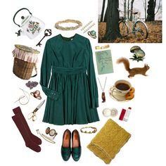 """warm enough for adventures in the park, cold enough for tea."" by zebiepaige on Polyvore"