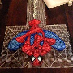 Spiderman perler beads by honey.beads