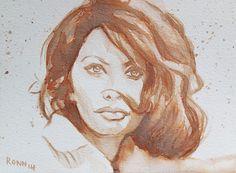 'Sophia Loren'. ink - 13cm x 18cm - paper