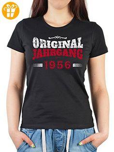 Geburtstags/Jahrgangs-Shirt/ Fun-Shirt Damen: Original Jahrgang 1956 schöne Geschenkidee (*Partner-Link)